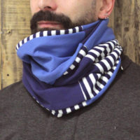 Blue smooth infinity scarf